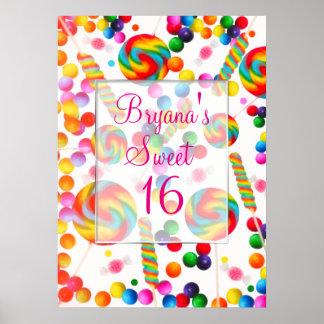 Bannière de fête d'anniversaire de Candyland de
