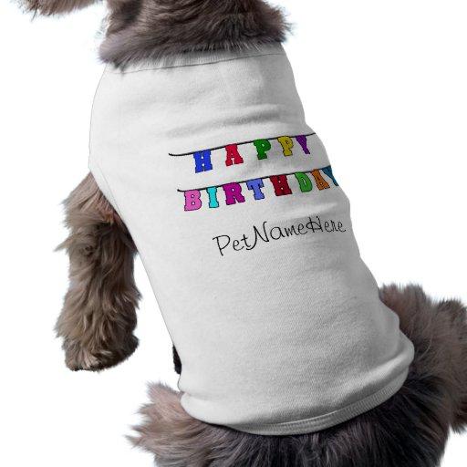 Bannière de joyeux anniversaire manteaux pour animaux domestiques