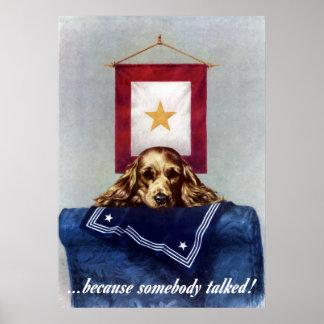 Bannière d'étoile d'or -- Puisque quelqu'un a parl Poster