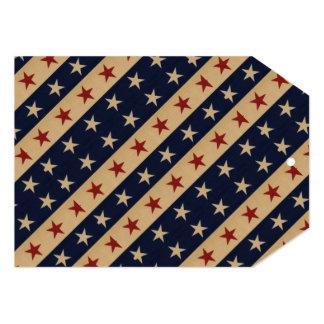 Bannière étoilée americana carton d'invitation  12,7 cm x 17,78 cm