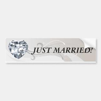 Bannières de coeur de diamant autocollant de voiture