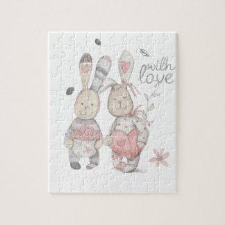 banny rabbit couple 2 jigsaw puzzle
