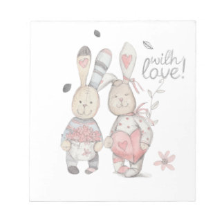 banny rabbit couple 2 notepad