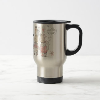 banny rabbit couple 2 travel mug