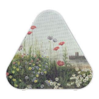 Banque des fleurs d'été haut-parleur bluetooth