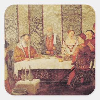 Banquet Given by Bartolomeo Colleoni Square Sticker