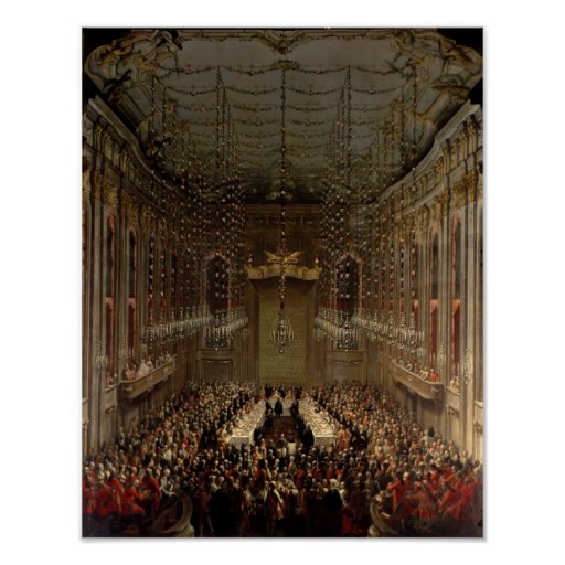 Banquet in the Redoutensaal, Vienna, 1760 Poster