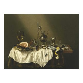 """Banquet Piece with Ham by Willem Claesz Heda 5.5"""" X 7.5"""" Invitation Card"""