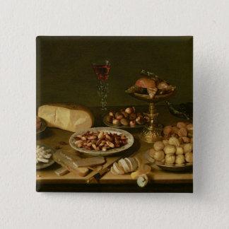 Banquet still life 2 inch square button