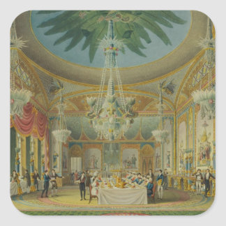 Banqueting Room, from 'Views of Royal Pavilion Square Sticker