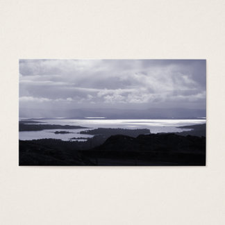 Bantry Bay from Tunnel Road Ireland. Blue. Business Card