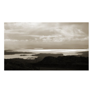 Bantry Bay from Tunnel Road Ireland. Sepia . Business Card