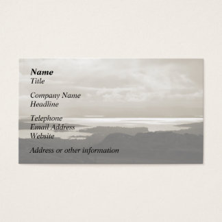 Bantry Bay from Tunnel Road Ireland. Sepia Colors. Business Card
