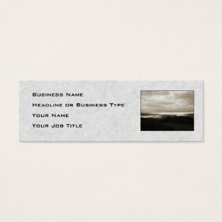 Bantry Bay from Tunnel Road Ireland. Sepia Colors. Mini Business Card