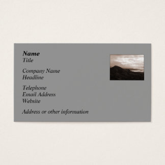 Bantry Bay, Tunnel Road Ireland. Warm Sepia Colors Business Card
