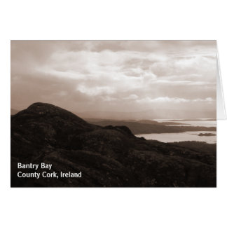 Bantry Bay, Tunnel Road Ireland. Warm Sepia Colors Card