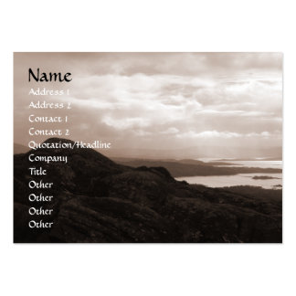 Bantry Bay, Tunnel Road Ireland. Warm Sepia Colors Large Business Card