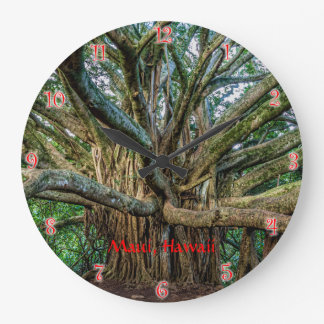 Banyan Tree along the Pipiwai Trail Large Clock