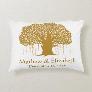 Banyan Tree Rustic Outdoor Wedding Decorative Pillow
