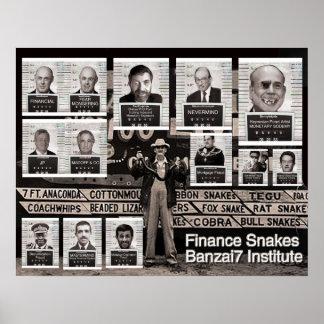 Banzai7 Finance Snakes Print
