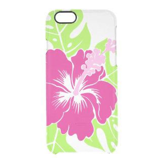 Banzai Beach Hawaiian Hibiscus Floral Clear iPhone 6/6S Case