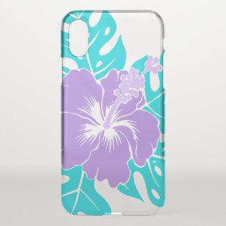Banzai Beach Hawaiian Hibiscus Floral - Lilac iPhone X Case