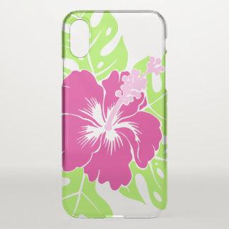 Banzai Beach Hawaiian Hibiscus Floral - Pink iPhone X Case