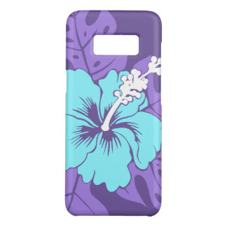Banzai Beach Hawaiian Purple and Turq Hibiscus Case-Mate Samsung Galaxy S8 Case
