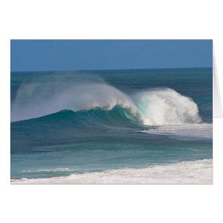 Banzai Pipeline Waves Card