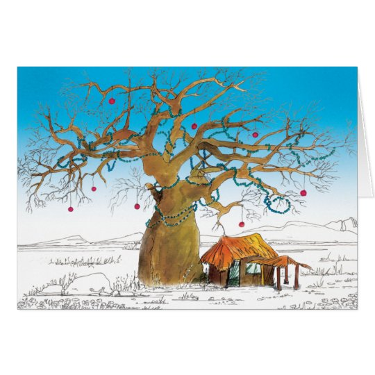 Baobab Christmas Tree Card