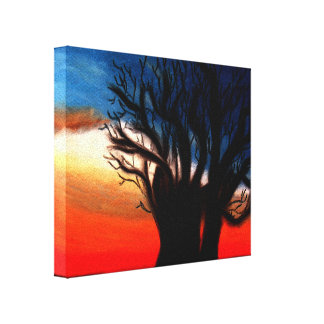 Baobab Tree Painting Gallery Wrapped Canvas