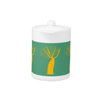 Baobabs gold on eco green