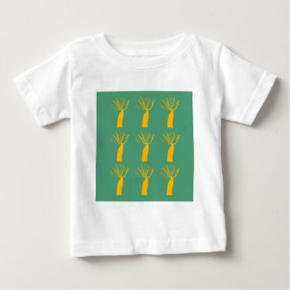 Baobabs gold on eco green baby T-Shirt