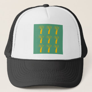 Baobabs gold on eco green trucker hat