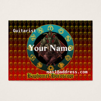 Baphomet and horoscope business card