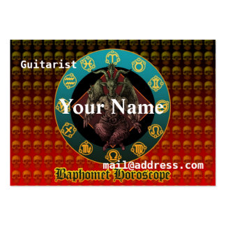 Baphomet and horoscope pack of chubby business cards