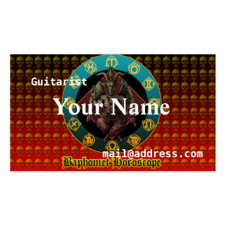 Baphomet and horoscope pack of standard business cards