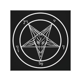 """Baphomet Art 12""""x12""""on Stretched Canvas Gallery Wrapped Canvas"""