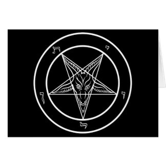 Baphomet blank greeting card