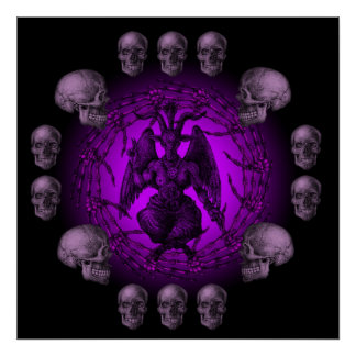 Baphomet Bone Collection Poster