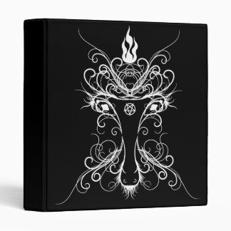 Baphomet Damask Occult Goth Book Of Shadows 3 Ring Binder