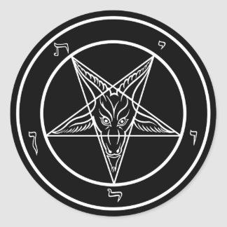 Baphomet Decals Classic Round Sticker