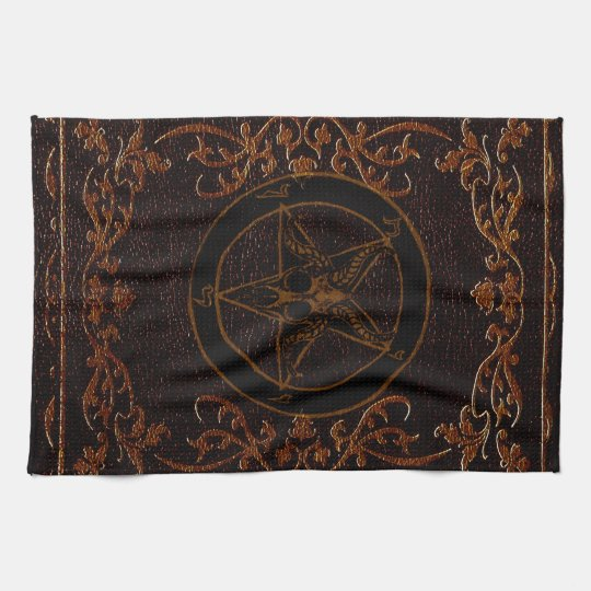 Baphomet Grimoire Kitchen Towel