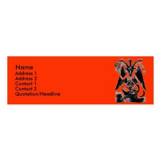 Baphomet Mini Business Card