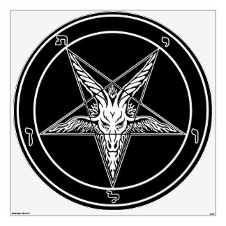 "Baphomet Old Style Wall Decal-48"" Wall Sticker"