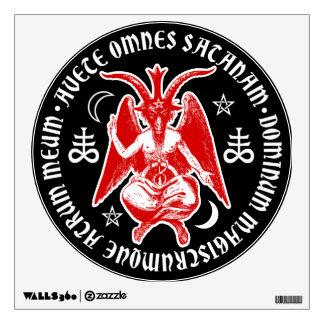 Baphomet with Satanic Crosses & Pentagrams Wall Sticker