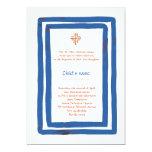 Baptême bleu de frontière bristols personnalisés