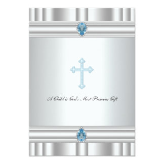 Baptême croisé gris et bleu de garçons bristols