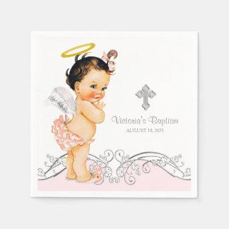 Baptême de baptême de fille d'ange serviette en papier
