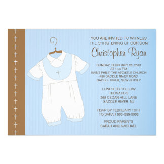 Baptême de bébé baptême Inviation Invitations Personnalisables